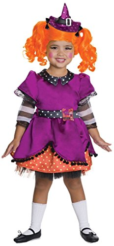 [Deluxe Lalaloopsy Candy Broomsticks Halloween Costume Witch Child Girls S 4-6] (Lalaloopsy Adult Costumes)