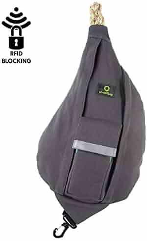 ubun2bag RFID Blocking Anti-Theft, Hand Made, Rope Sling Bag - unisex, 0f81c4740f