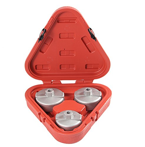Shankly Oil Filter Wrench Set (3 Pieces), Oil Filter Socket Set, Toyota Oil Filter Wrench Set – Ultra Strong Aluminum Alloy – 3 Sizes in a Hard Cover Case. 30 Day, No Questions Asked