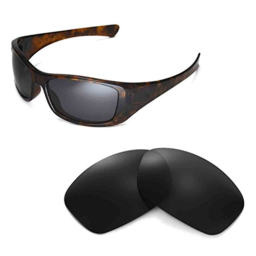 Walleva Replacement Lenses for Oakley Hijinx Sunglasses - Multiple Options Available (Black - - Oakley Hijinx Lens Replacement
