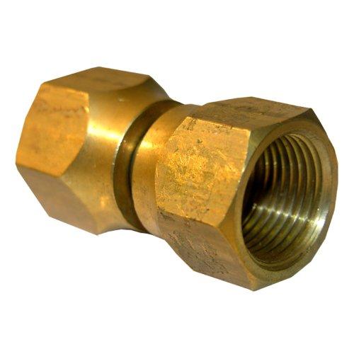 LASCO 17-5957 5/8-Inch Female Flare Swivel Brass Adapter
