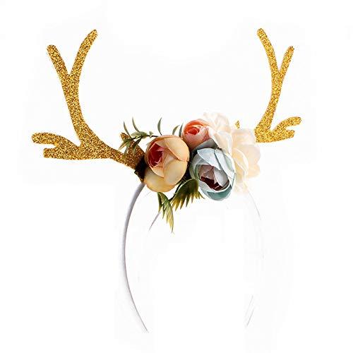 (4 Style Xmas Decor DIY Women Girls Christmas Reindeer Deer Antlers Costume Ear Party Hair)