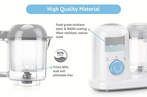 QOOC 4-in-1 Mini Baby Food Maker by minne (Image #3)