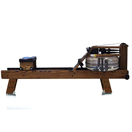 WaterRower Vintage Oak w S4 Monitor Hi Rise Attachment
