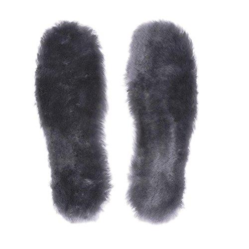APELPES Cut-to-fit Wool Insoles, Cozy & Fluffy Premium Sheepskin Insoles Fleece Inserts (Gray, Men's 6-14) Wool Felt Block
