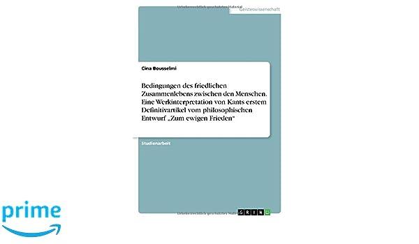 Immanuel Kant -  Der zweite Definitivartikel zum ewigen Frieden (German Edition)