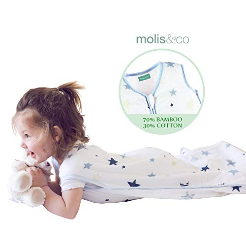 Muslin Sleeping Bag for Babies, Super Soft and Light Wearable Blanket Sack, Unisex 6 to 18 Months 0.5 TOG Ideal for Summer