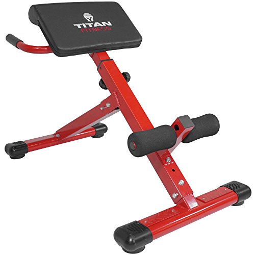 Titan Abs Back Hyper Extension Exercise Bench Roman Chair X Strength Training (Hyperextension Machine)