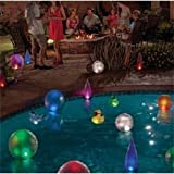Solar Powered Color Changing Swimming Pool Lighted Floating Inflatable Flame
