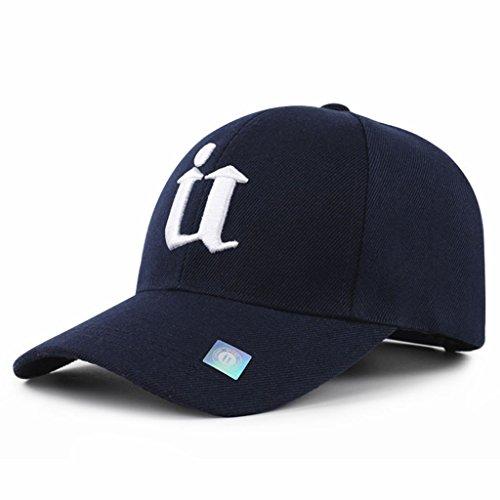 NJ Sunhat- Men's Hat Wild Black Baseball Hat Sun Shade Cotton Cap (Color : Dark Blue)
