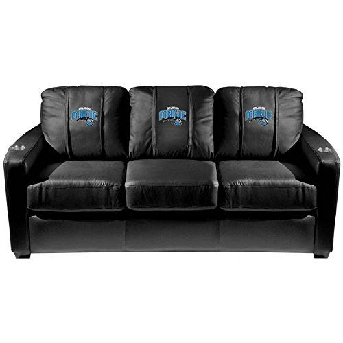 XZipit NBA Silver Sofa with Orlando Magic Logo Panel, Black