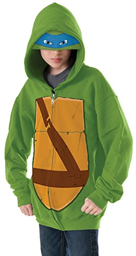 [Teenage Mutant Ninja Turtles Leonardo Hoodie Costume, Large] (Teenage Girls Halloween Costumes Ideas)
