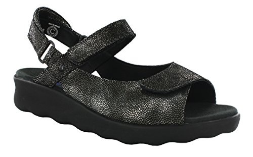 Comfort 01890 Leather Wolky Black Pichu 60000 Sandals 8qEdrE