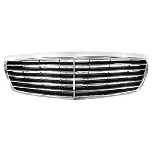 Koolzap For NEW 03-06 E-Class Front Grill Grille Assembly Chrome/Black MB1200141 2118800583