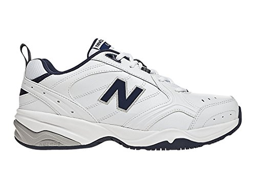 (New Balance Men's MX624v2 Casual Comfort Training Shoe, White/Navy, 8.5 2E US)
