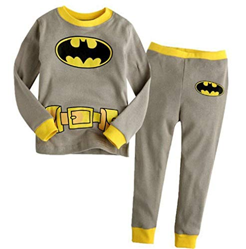 Boys Pajamas Sets Batman Children Christmas Pants 100% Cotton Spider-Man Long Kids Snug Fit Pjs Winter Toddler Sleepwear (17, 7T)