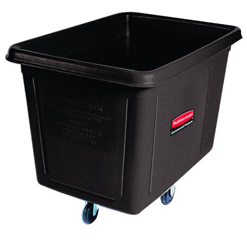 RCP4614BLA - Black Laundry Waste Collection Cube Truck, 14 Cubic Feet
