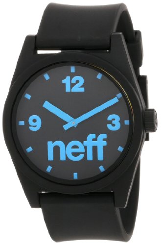 Neff Men's Daily Watch, Black/Cyan, One Size
