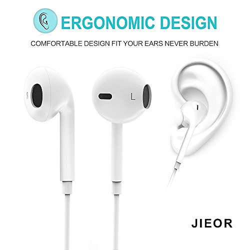 JIEOR Bluetooth Headphones,Wireless Headphones Bluetooth V4.2 Earbuds with Mic Stereo Earphones Noise Cancelling Sweatproof Sports Headset for iPhone X 8 7 Plus Samsung Galaxy S7 S8 S9 and Android by JIEOR (Image #2)