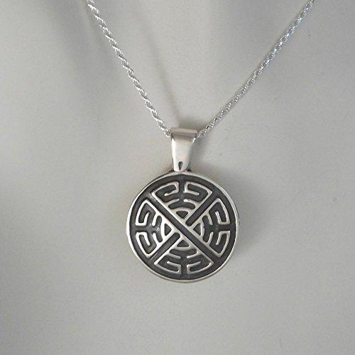 Sterling Silver Celtic Shield Knot Pendant