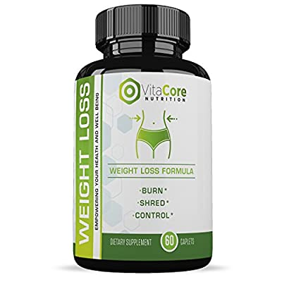 Weight Loss Pills - for Women and Men - All-Natural Ingredients - Boosts Your Metabolism - Burn More Calories - Promotes Energy - 1 Month Supply - VitaCore Nutrition
