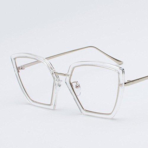 Aoligei Élégance irrégulière lunettes de soleil femme lunettes de soleil rétro visage rond Corée de marée L74nnDgE