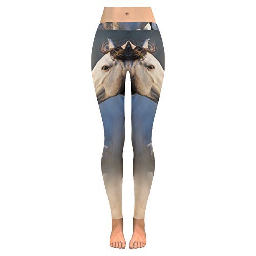 InterestPrint Leggings All-Over Low Rise Leggings Couple of Horse Skinny Pants For Yoga Running Gym(2XS-5XL) by InterestPrint