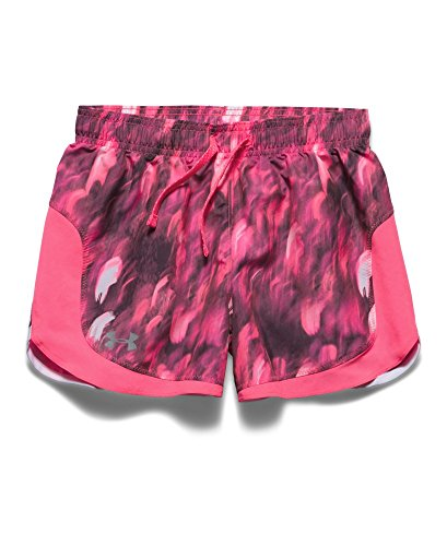 Under Armour Kids Girl's Stunner Novelty Short (Big Kids) Cerise/Cerise/Reflective Shorts by Under Armour