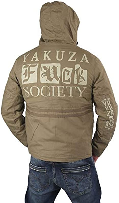 Yakuza Fuck Society Parka męska: Odzież
