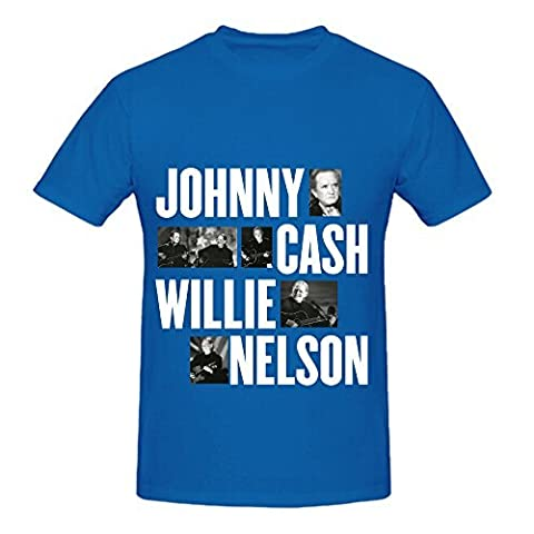 Willie Nelson Vh1 Storytellers Johnny Funk Men Digital Printed Shirts Blue (Willie Nelson Patch)