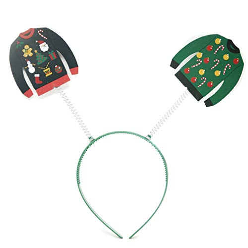 Forum Women's Ugly Christmas Sweater Headband Boppers, Multi, One Size -