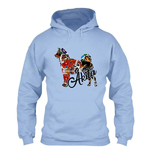 Elido Store Color Akita Hoodies, Hooded Sweatshirt, Clothes Blue,S ()