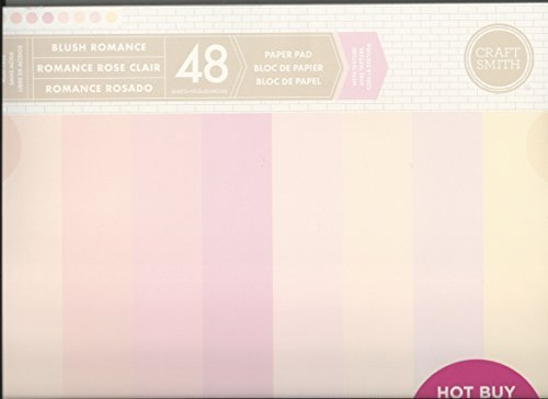 Craft Smith 12 x 12 Blush Romance Wedding Neutral Paper (Wedding 12x12 Scrapbook Paper)