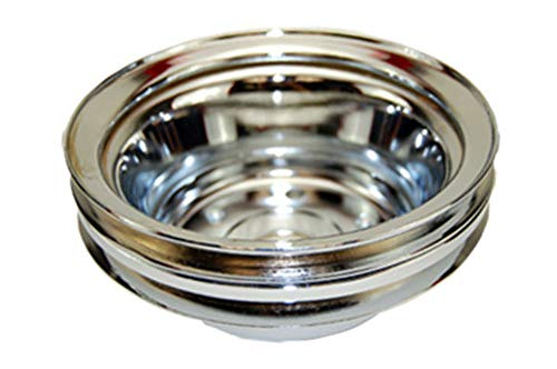 Pirate Mfg SBC Chevy 283-350 Chrome Steel LWP Double Groove Crankshaft Pulley