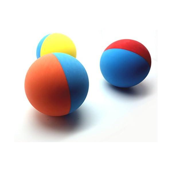 Snug Rubber Dog Balls - Tennis Ball Size - Tough, Durable, Virtually Indestructible - Extra Bouncy (3 Pack) 2