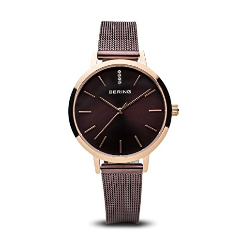 BERING Time 13434-265 Women Classic Collection Watch with Stainless-Steel Strap and scratch resistent sapphire crystal. Designed in Denmark