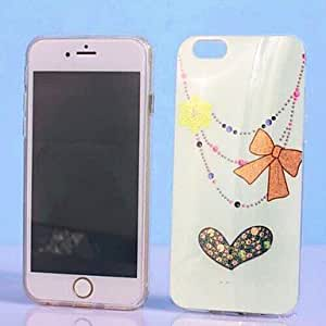 QJM Specially Designed Gold Dust Pattern TPU Cover for iPhone 6