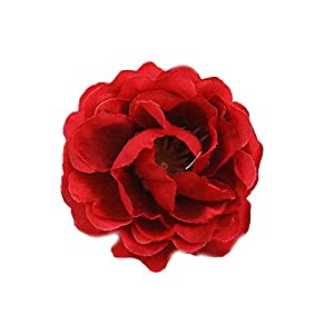 Estyle Fashion Fake Rose Heads Artificial Flowers Christmas Wedding Bride Bouquet Party DIY Decor (Red) 44