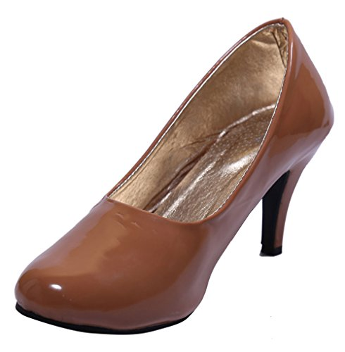 John Sparrow Sandalias con estilo de tacón alto de tacón alto de las mujeres - elija el tamaño marrón