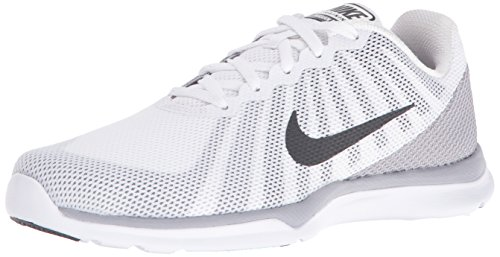 (NIKE Women's in-Season TR 6 Cross Trainer, White/Anthracite/Wolf Grey/Stealth, 8 B US)