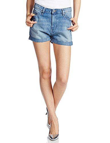 Diesel Women's Denim Shozee Cuffed Shorts (Blue Denim, 27)
