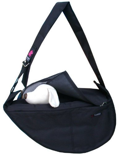 Fundle Pet Dog Cat Carrier Bag Adjustable Strap Large Black