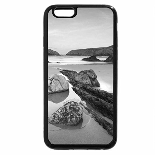 iPhone 6S Case, iPhone 6 Case (Black & White) - unreal beach