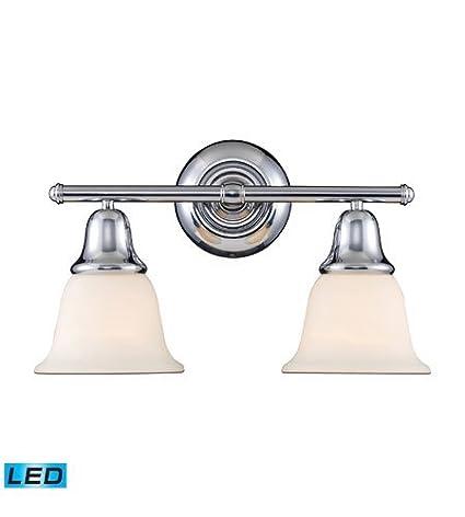 Amazon.com: Cuarto de baño vanidad 2 luz LED con cromo ...