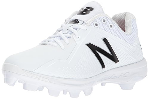 Mens Molded Baseball Cleats (New Balance Men's PL4040v4 Molded Baseball Shoe, White, 10 D US)