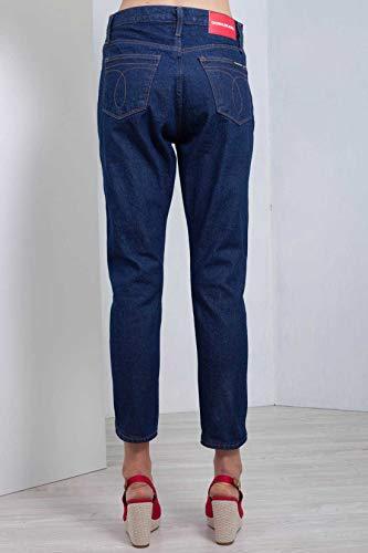 Omega 30 Calvin Jeans Cropped Con Klein A Taglia Lavaggio Scuro Dettaglio Donna z47UxOqwz