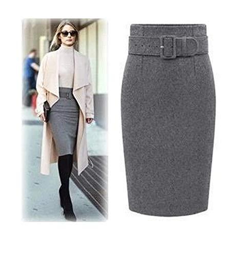 Falda de otoño e Invierno, tamaño Grande, Media Falda, Bolsa ...