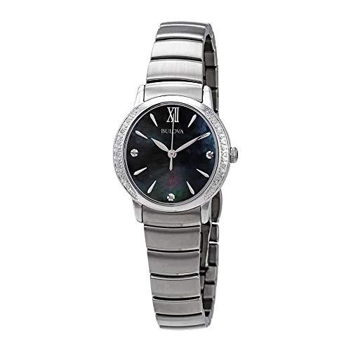 Bulova Women's Quartz Stainless Steel Dress Watch, Color:Silver-Toned (Model: ()