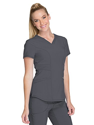 Cherokee Infinity CK623A V-Neck Top Pewter S