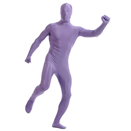 Purple 2nd Skin Suit Kids Costumes (Kid's Zentai Suit Bodysuit Costume 2nd Skin Lycra Spandex Full Body with Head Mask)